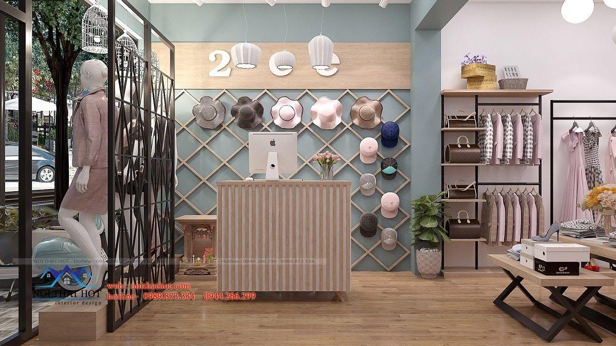 thiết kế shop thời trang nữ 2ce 3