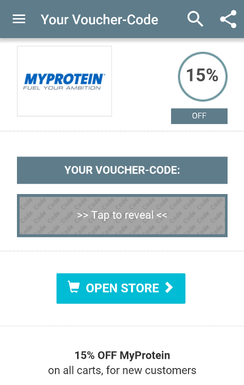Voucher App- screenshot