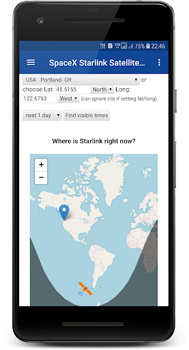 Satellite live Position- Starman,Starlink,Falcons App Report