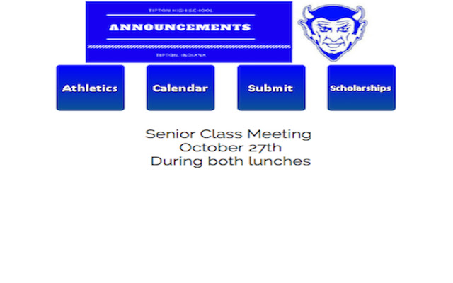 Tipton High School Daily Announcements