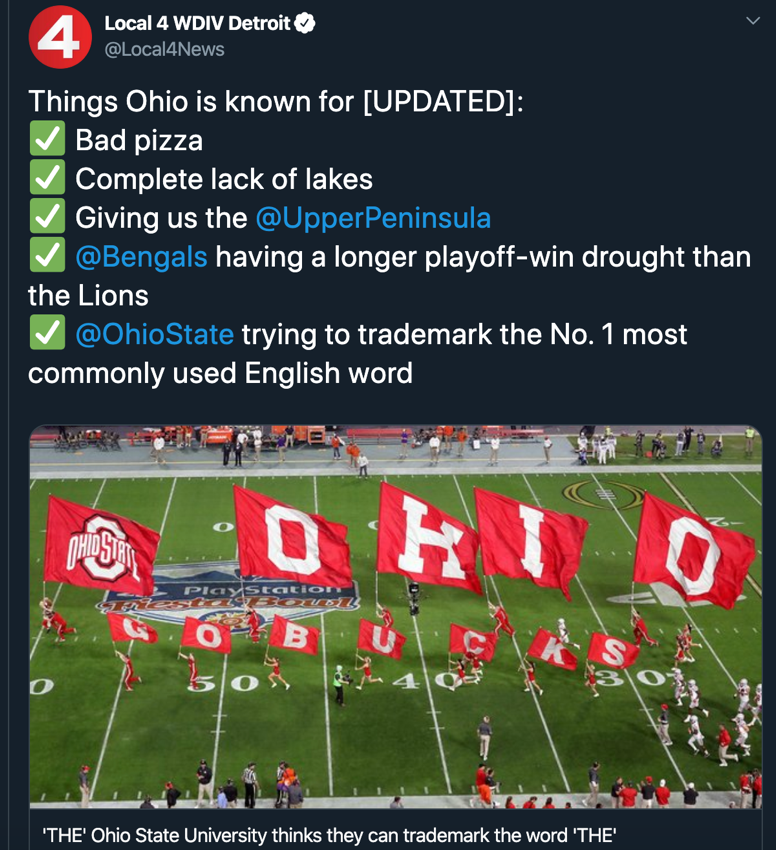 Things Ohio is known for