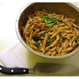 Penne Pasta With Asparagus.