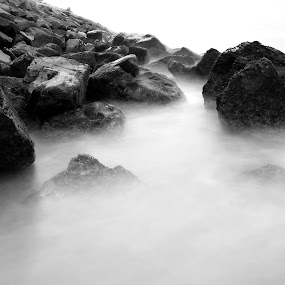 Water and Rock by Muhammad Muqri - Landscapes Waterscapes ( pwcbwlandscapes )