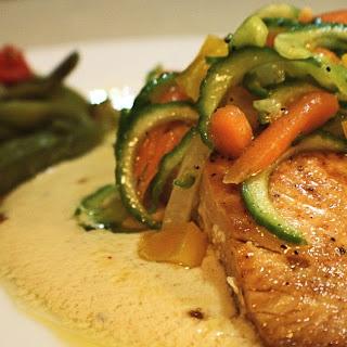 Pan Seared Salmon with Creole Cream Sauce