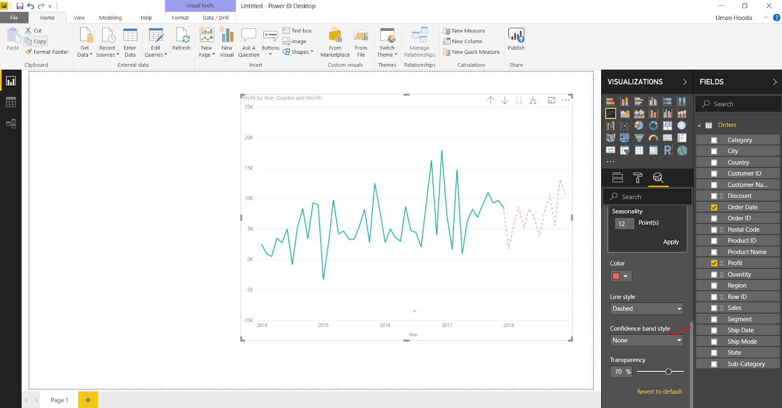 Forecast in Power BI 34