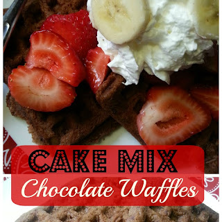 Cake Mix Chocolate Waffles (4-Ingredients).