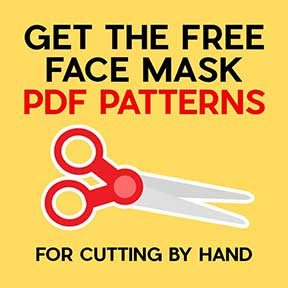 Get the free face mask PDF patterns!