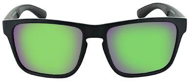 Optic Nerve Rumble Sunglasses - Matte Black, Polarized Smoke Lens with Green Mirror alternate image 1