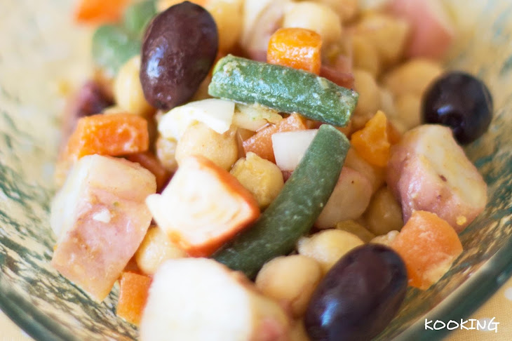 Chickpeas Salad with Octopus Recipe
