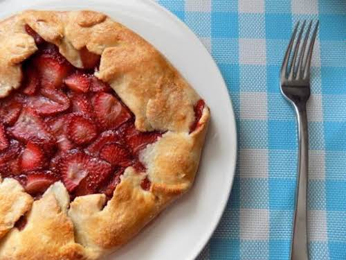 "Roasted Strawberry Tart ""The strawberries really shine in this cute strawberry tart..."