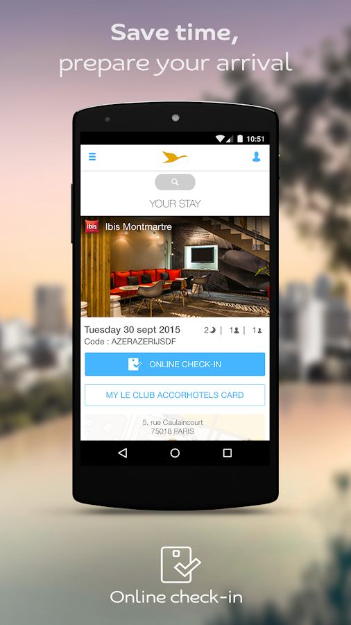 AccorHotels reserva de hotéis: captura de tela