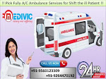 Get 24*7 Hours Perfect ICU Enable Ambulance in Jamshedpur by Medivic