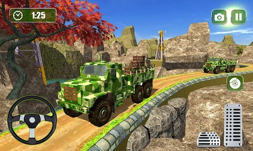 US Offroad Army Cargo Truck Driving Transport Game - náhled
