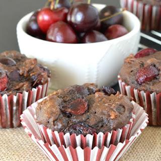 Chocolate Cherry Banana Bread Muffins