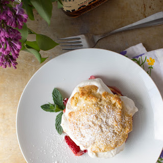 Bourbon + Vanilla Roasted Strawberry Rhubarb Shortcakes Recipe