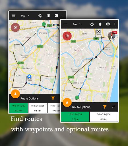 GPS Driving Route® - Offline Map Directions Screenshot