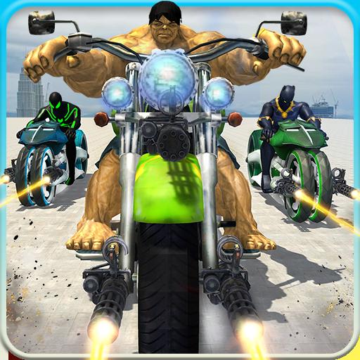 Incredible Monster Superhero Bike Battle