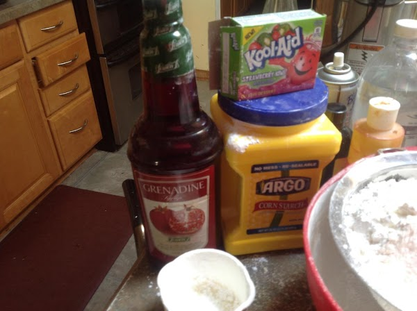 These are some of the main ingredients used to make the cake.