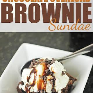 Chocolate Overload Brownie Sundae.