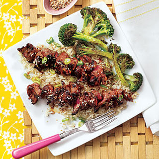 Grilled Teriyaki Steak Skewers