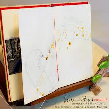 Photo: La Sonda de paper PIONERA estarà exposada en l'exposició col·lectiva 2 anys del Racó de l'art, a la Llibreria Papasseit de Manresa. Aquest mes i tot l'agost!