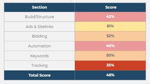 Account Audit Score