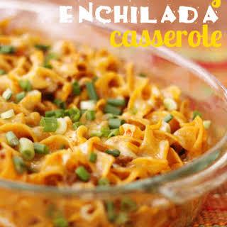 Cheesy Enchilada Casserole.