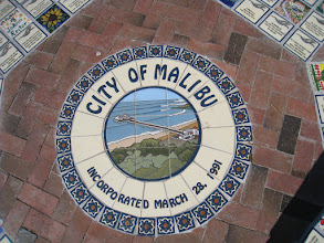 Photo: Medallion-Mural & Deco Tiles Commissioned by the City of Malibu, CA