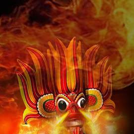 Fire Demon by Pahalage Don Asantha Aeroshana - Illustration People