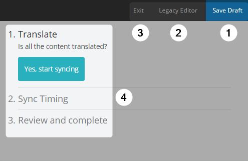 Detail screenshot of progress panel in Amara Editor