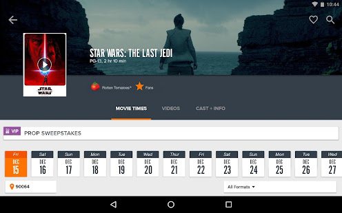 App Fandango Movies - Times + Tickets APK for Windows Phone
