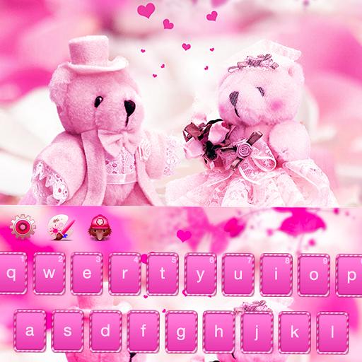 Pink love in Paris keyboard (app)