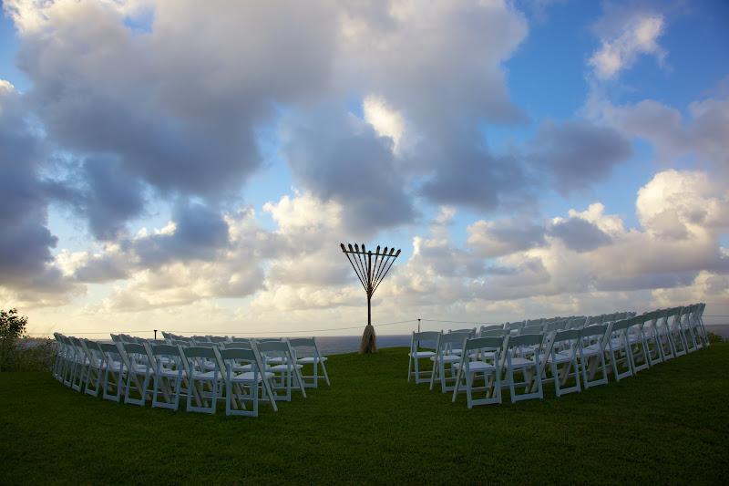 Photo: Hawaii's tiki-torch Menorah lighting @ S. Regis, Princeville, Kauai