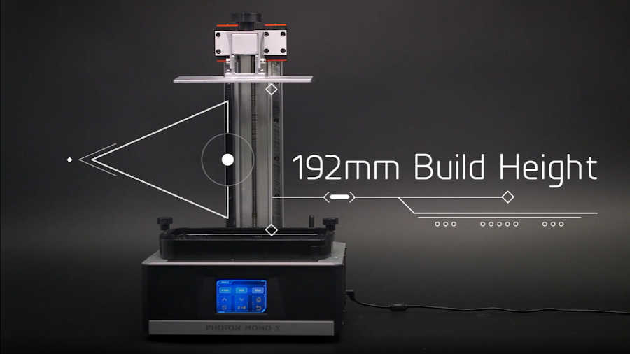 Of the three, the Anycubic Mono X has the largest build volume; it's big in every dimension!