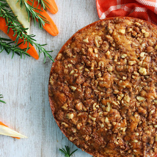 Carrot-Parsnip Coffee cake with Walnut Streusel