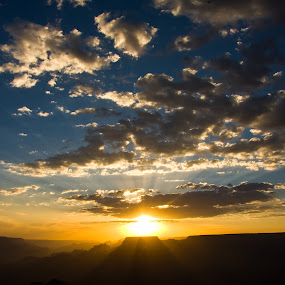Grand Canyon Sunset  by Narayna Gopi - Landscapes Sunsets & Sunrises