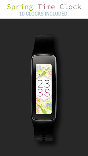 Spring Time Gear Fit Clock