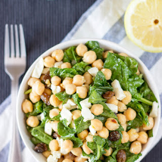 The Amazing Chickpea Spinach Salad
