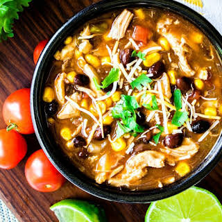 Pressure Cooker Chicken Enchilada Soup.