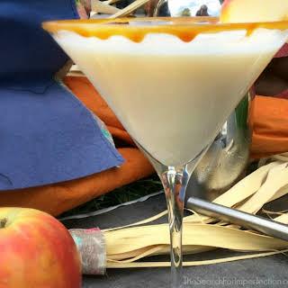 Easy Caramel Apple Martini Cocktail or Mocktail.
