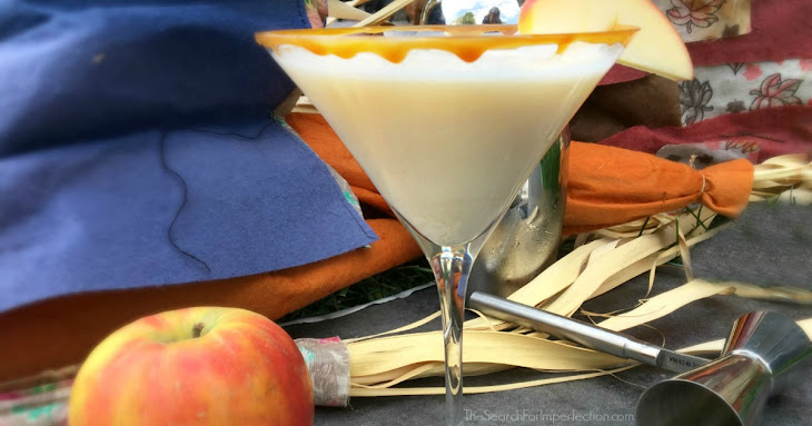 Easy Caramel Apple Martini Cocktail or Mocktail