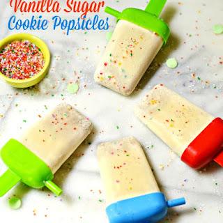 Vanilla Sugar Cookie Popsicles