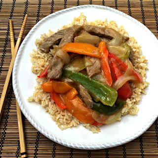 Beef Stir Fry with Bell Peppers.
