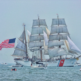 The Eagle by Gwen Paton - Transportation Boats ( water, connecticut, tall ships, ship, ct,  )