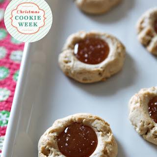Dairy-Free Salted Caramel Thumbprint Cookies