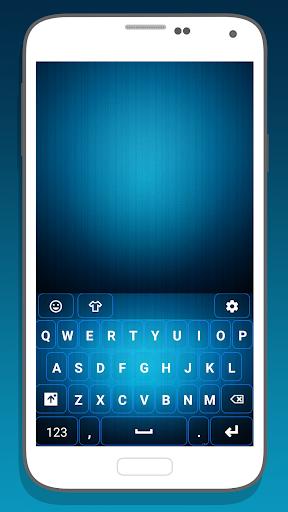 Blue Theme for Emoji Keyboard