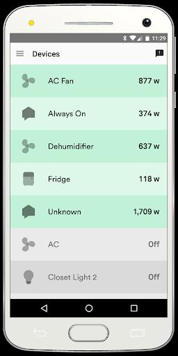 Sense Home Energy Monitor Screenshot