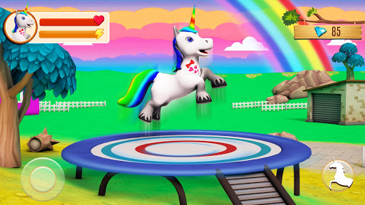 Baby Unicorn Wild Life: Pony Horse Simulator Games modavailable screenshots 1