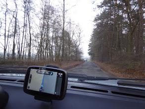 Photo: Auf direktem Weg durch den Wald zurück nach Bonn, oder: Navi-Marotten. Vor Wahlen.