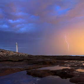Light my fire by Juan Wernecke - Landscapes Beaches ( stormy, flash, bright, good, kommetjie, supercell, beach, storm, hahnel, contrast, nature, shadow, slangkop, photographer, dark, motion, cpl, darkness, light, cell, dusk, cape town, emotion, dawn, day, town, hope, raw, canon, reflection, juan wernecke, cape, waterscape, south africa, beauty, landscape, tranquil, sigma, uv, africa, nikon, juan, rocks, western cape, cloudscape, seascape, cape of good hope, lighting, sunset, nd, south, sunrise, wernecke, hoya, daylight )